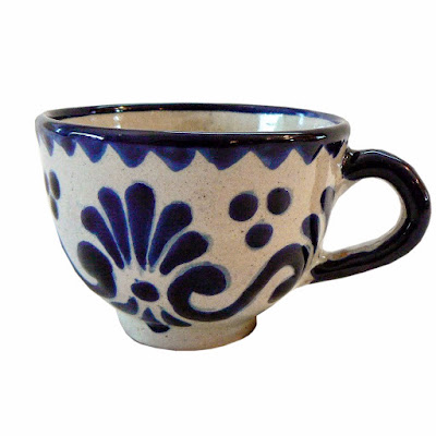 Talavera Mexican Pottery Cup collectible and functional