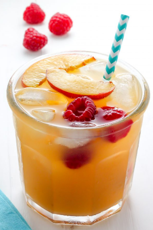 Raspberry Peach Iced Tea Lemonade #lemonade #raspberry