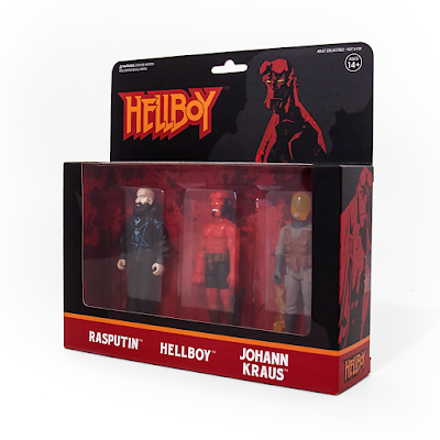 New York Comic Con 2018 Exclusive Hellboy ReAction Series 2 Action Figure 3 Packs by Super7 x Mike Mignola