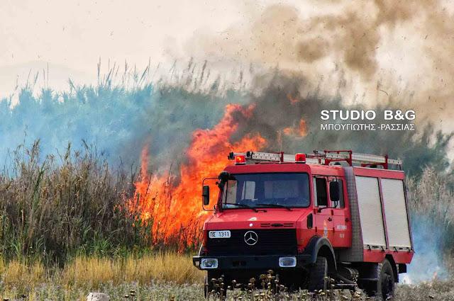 Πυρκαγιά ανάμεσα στα χωριά Ίναχο και Ήρα
