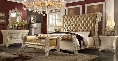 jual mebel jepara,mebel interior klasik,tempat tidur jati ukir klasik cat duco mewah classic italian eropa style