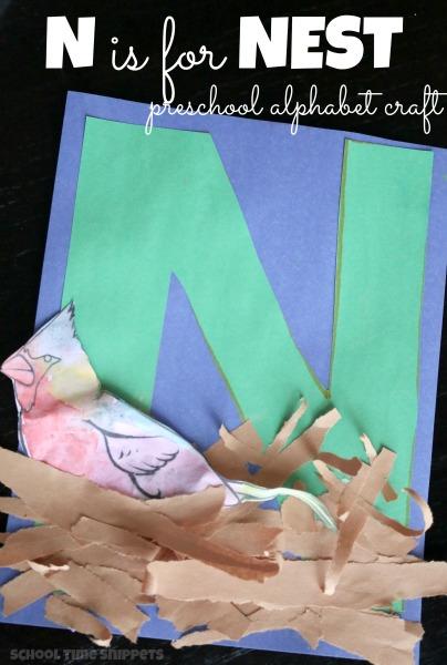 Letter N Alphabet Craft