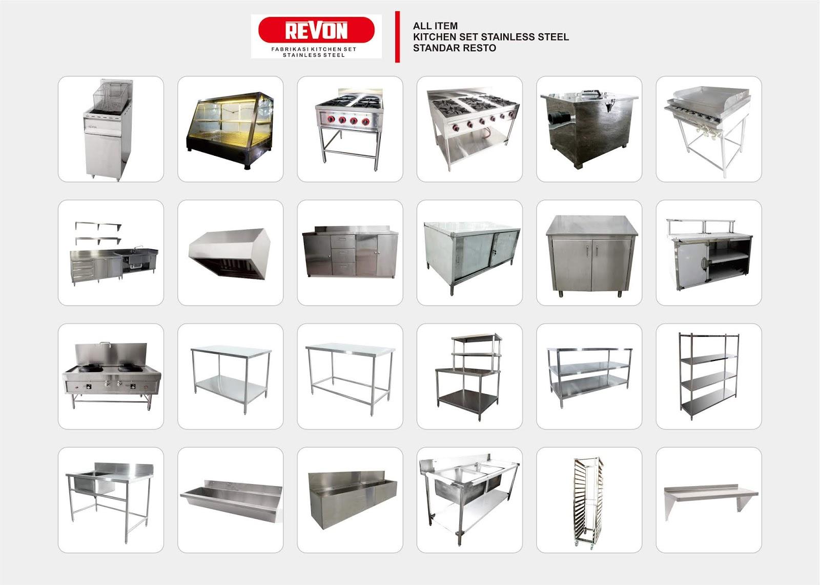Kitchen Set Stainless Steel Resto