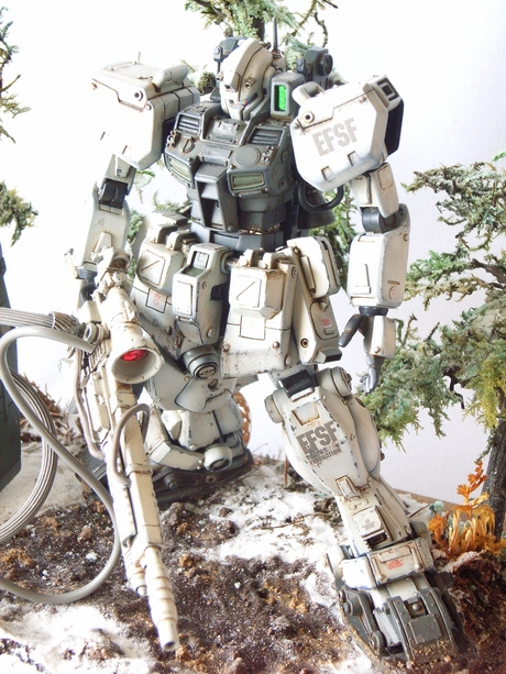 gm sniper type cold district custom build with diorama gundam kits collection news and reviews. Black Bedroom Furniture Sets. Home Design Ideas
