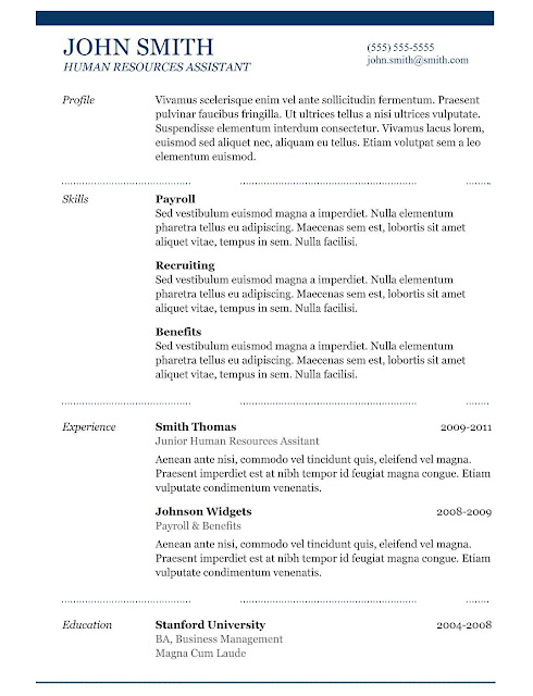 9 best free resume templates download for freshers Best - Resume Download Template