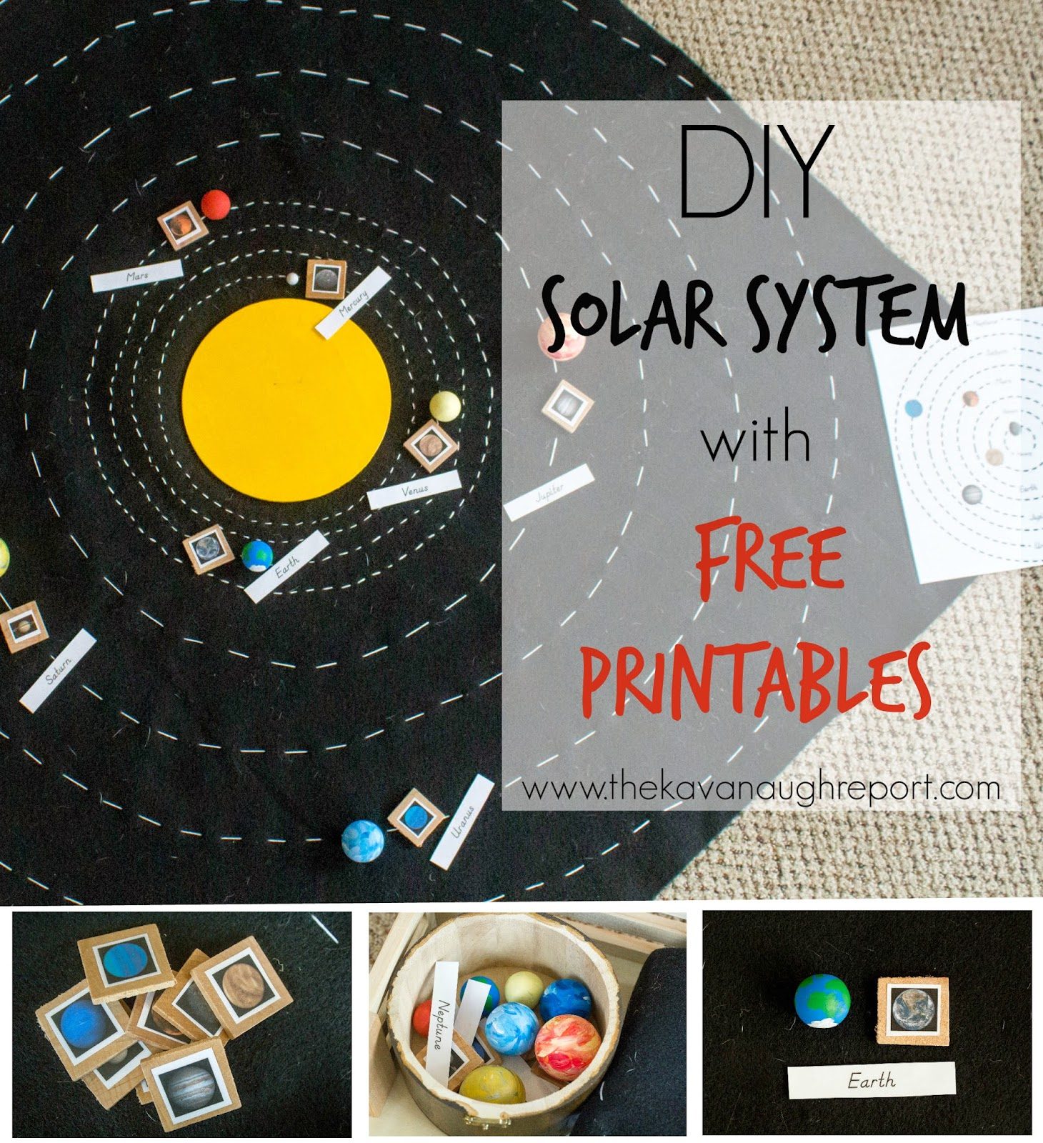 DIY Solar System Map with Free Printables [ 1600 x 1460 Pixel ]