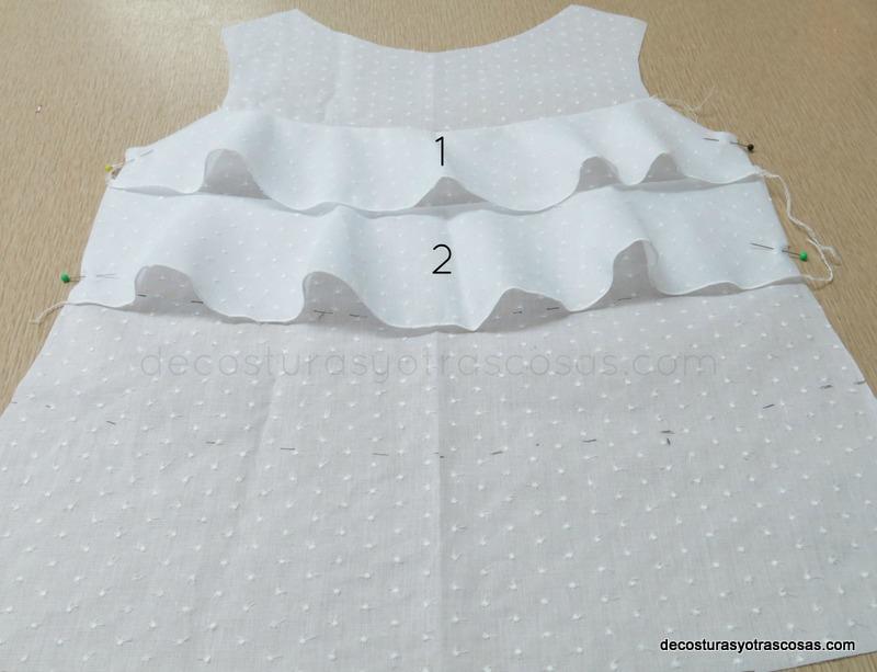 como hacer un blusón con volados en el delantero