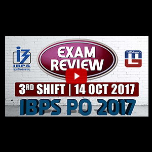 Exam Review IBPS PO PRELIMS 2017 with Cut Off | | 14 OCT - 3rd Shift