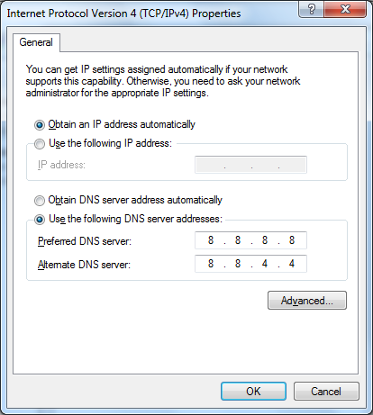 Where you put manual IP and DNS addresses.