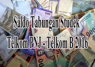 Saldo Dana Studek Telkom PNJ Kelas B