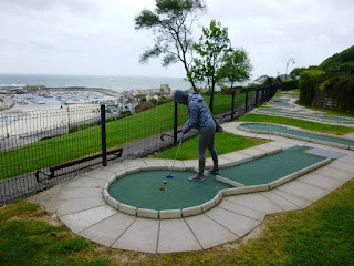 Mini Golf course in Lyme Regis, Dorset