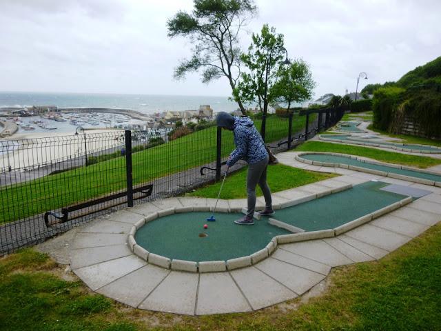 Mini Golf course in Lyme Regis, Dorset