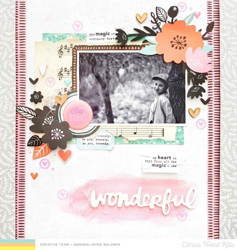 happy arty days citrus twist kits heartbreaker layouts