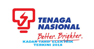 Senarai Kadar Tarif Elektrik Terkini 2018