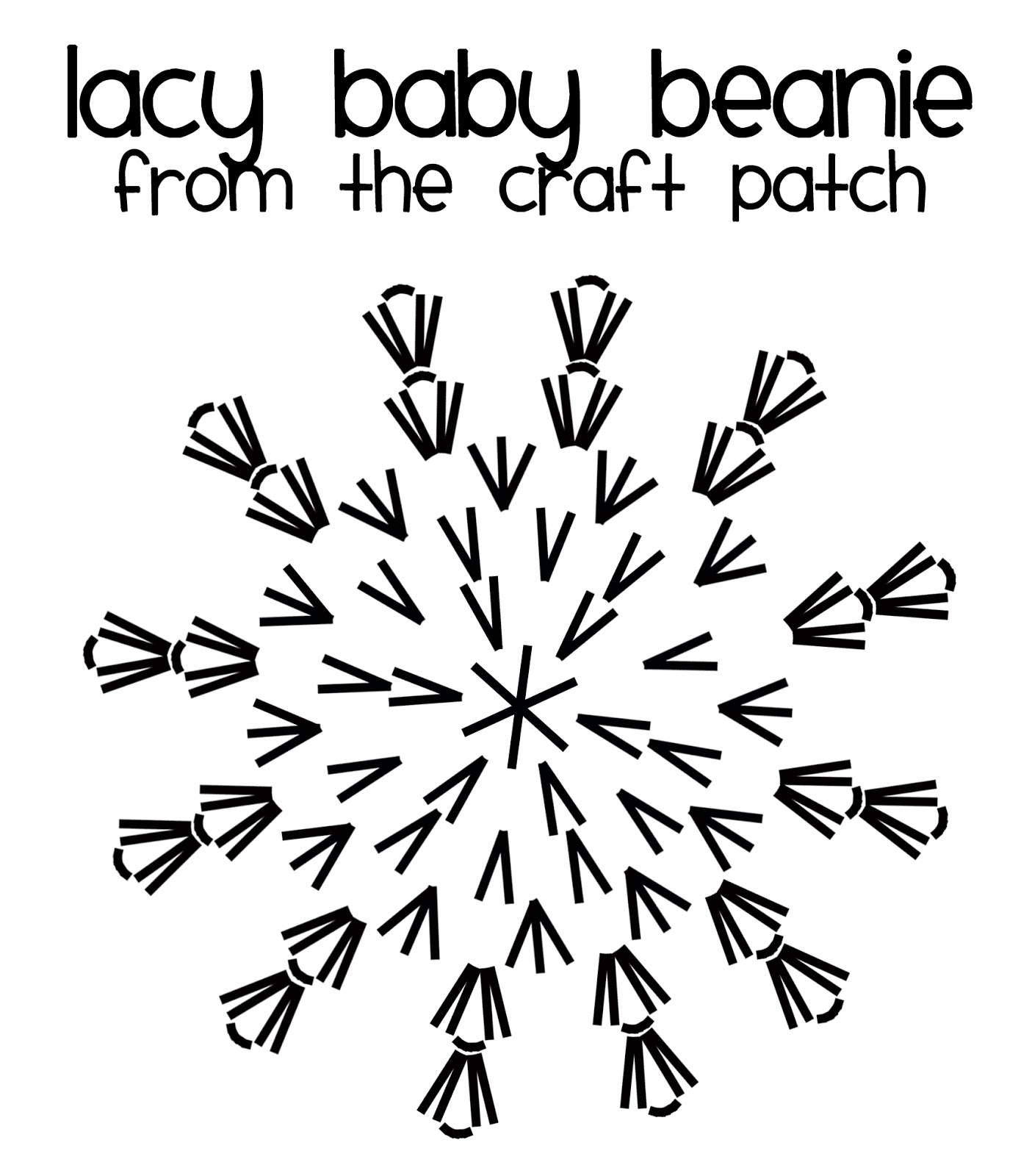 The Craft Patch Lacy Crochet Baby Beanie
