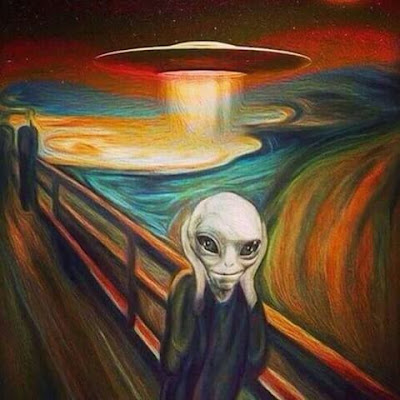 El grito de Munch - Versión Alien