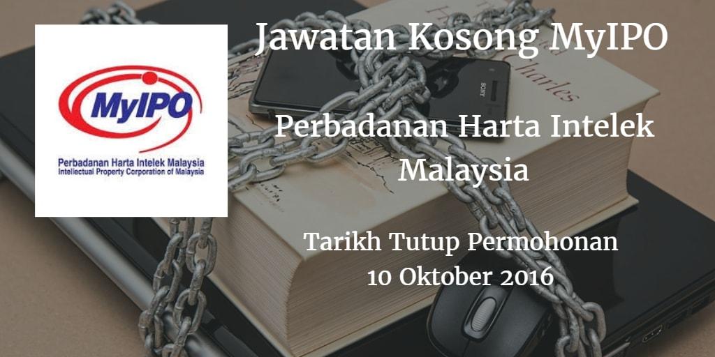 Jawatan Kosong MyIPO 10 Oktober 2016