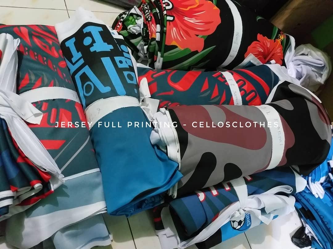 Bikin Jersey Full Printing untuk Tim Olah Raga Futsal, Basket, Sepeda dan Lainnya