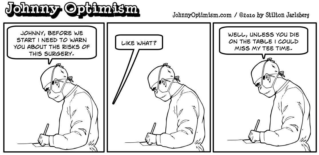 Johnny Optimism, johnnyoptimism, surgeon, doctor, golf, surgery