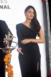 Beautiful Milky white Tamanna Bhatia in Black dress at Qutone New nd Launch ~ .xyz Exclusive 001.jpg