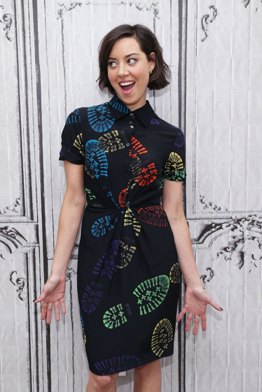 HD Photos of Aubrey Plaza At AOL Build Speakers Series In New York