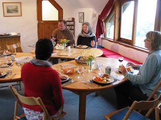 A meal at Ffald-y-Brenin