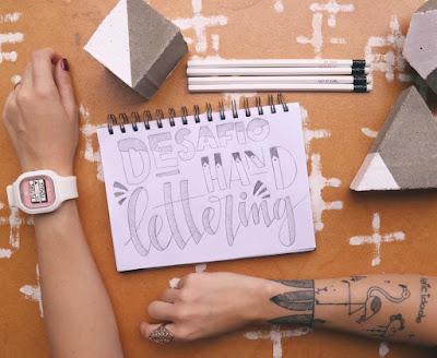 Desafio de Hand Lettering da Aline Albino