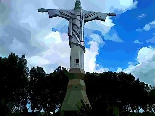 Monumento do Cristo Rei, em Serafina Correa
