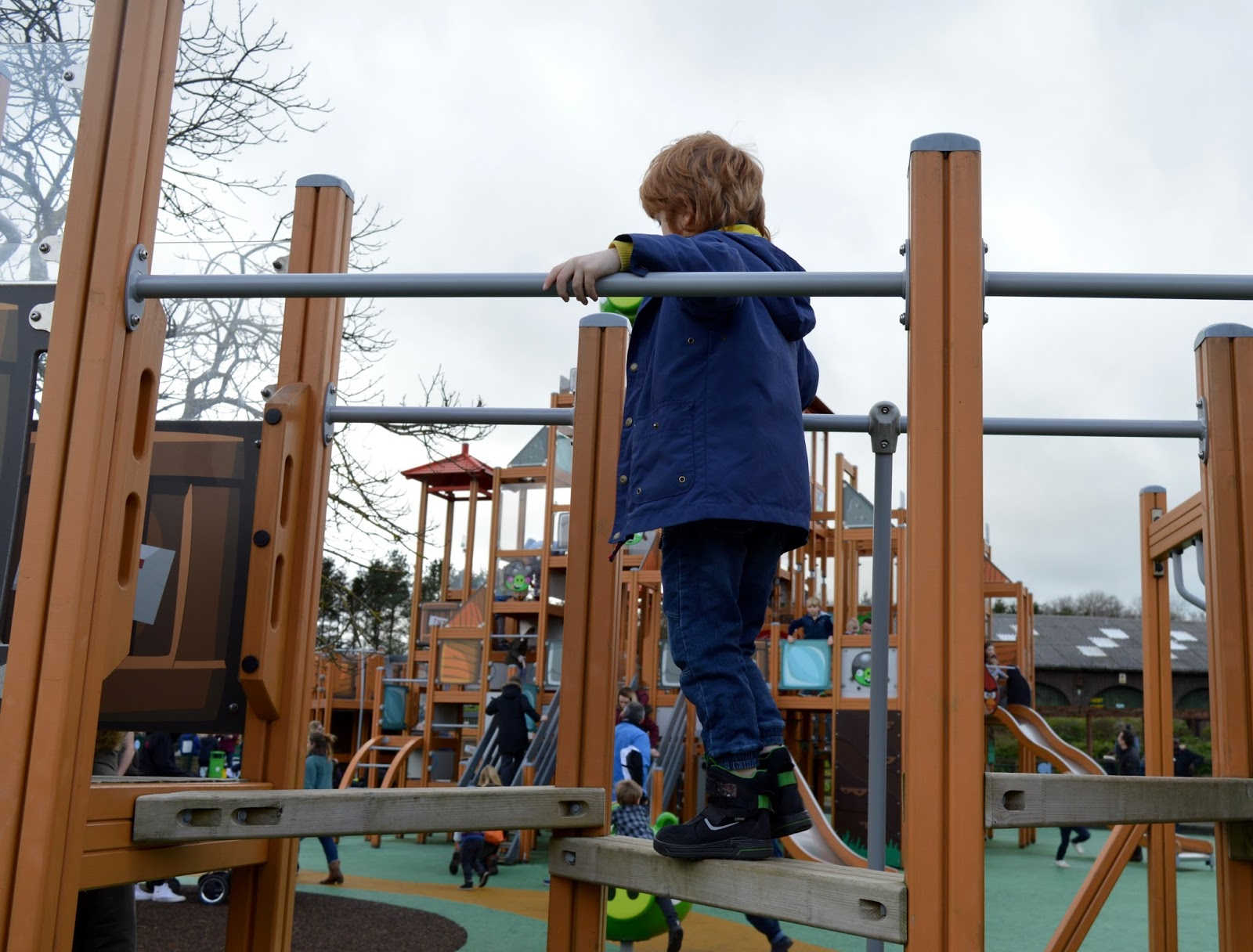 Visiting Angry Birds Activity Park at Lightwater Valley, North Yorkshire - tricky steps