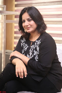 Cute Poja Gandhi in black dress at Dandupalyam 2 Movie press meet ~ Exclusive