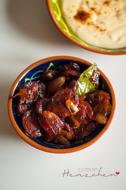 Gebratene Chorizo, Tapas
