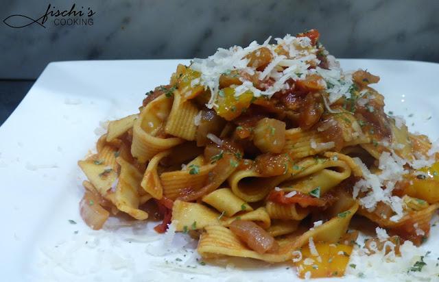 fischicooking, tagliatelle, fenchel - tomaten ragout