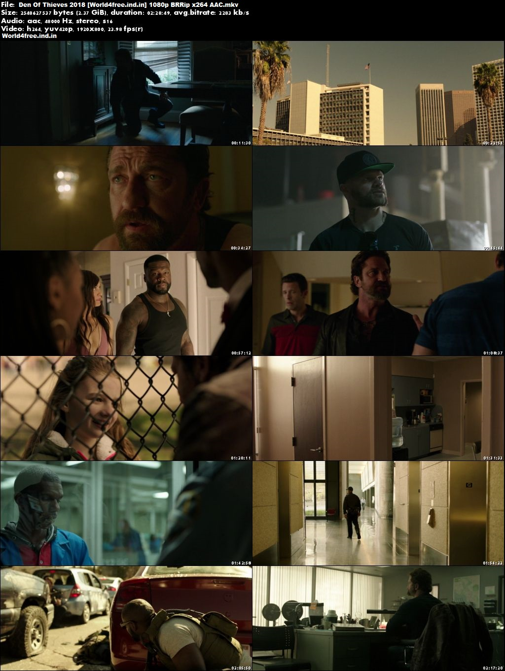 Den Of Thieves 2018 world4free.ind.in Full Hollywood BRRip 1080p Movie Download
