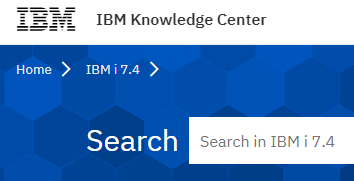 ibm knowledge center page for coming ibm i release 7.4