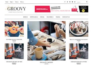 groovy free magazine blogger template 2017