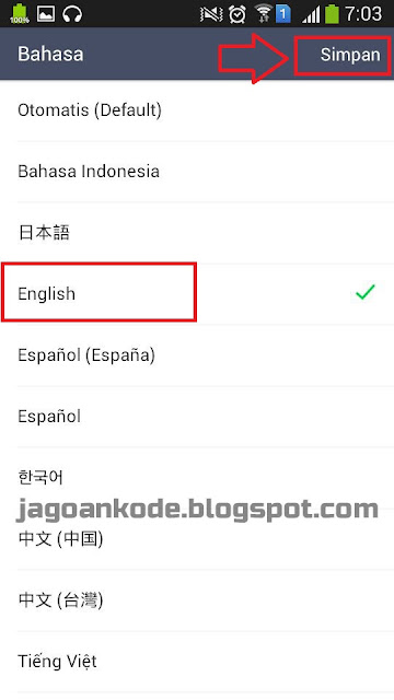 Cara Ubah Bahasa Di Aplikasi LINE Messenger