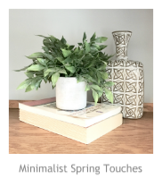 Minimalist Spring Touches at Pieced Pastimes