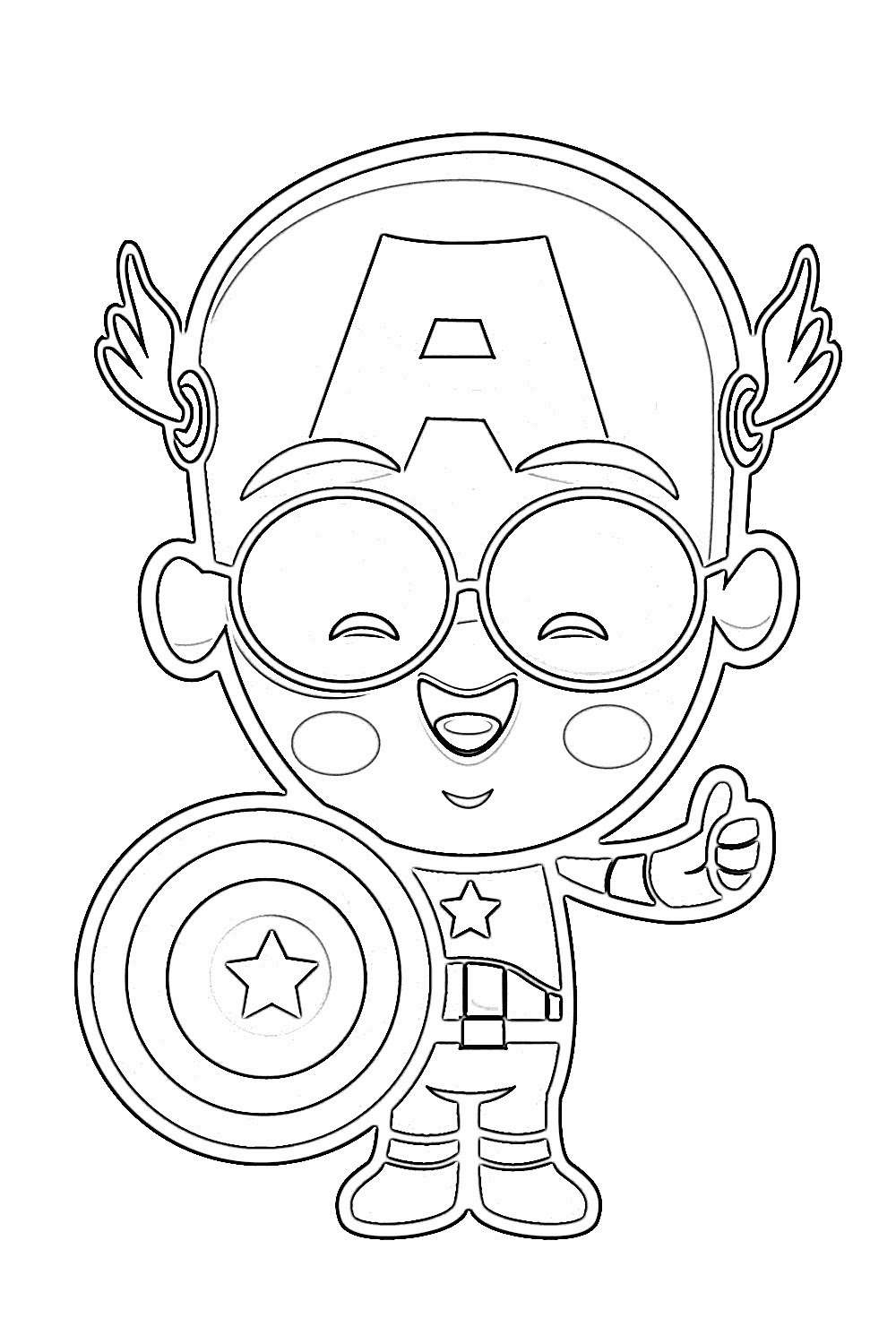baby captain america coloring pages - photo#3