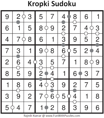 Kropki Sudoku (Fun With Sudoku #3) Solution