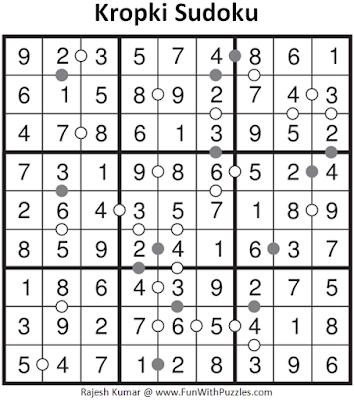 Kropki Sudoku (Fun With Sudoku #3) Solution