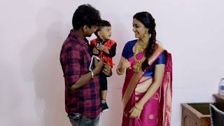 Keerthy Suresh in Saree with Cute and Lovely Smile with a Cute Kid 1