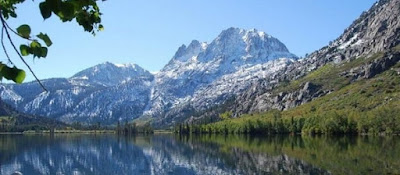 Lake in High Sierra Mountain range