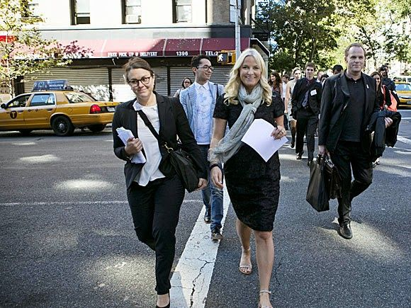 Crown Princess Mette Marit in New York