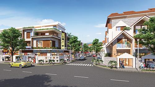 Phối cảnh dãy nhà phố bên trong dự án Barya Citi.