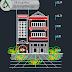 مخطط مشروع عمارة سكنية بطابقين 1 اوتوكاد dwg