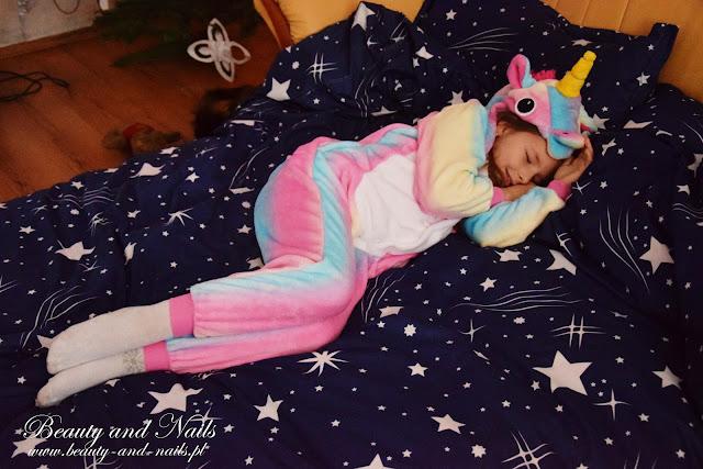 ROSEGAL | tęczowy jednorożec, piżamka dla dzieci.