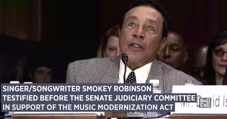 Media Confidential: Smokey Sings At Senate Hearing