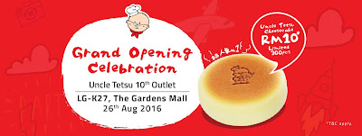 Uncle Tetsu Cheesecake RM10 Promotion Malaysia Gardens Mid Valley KL