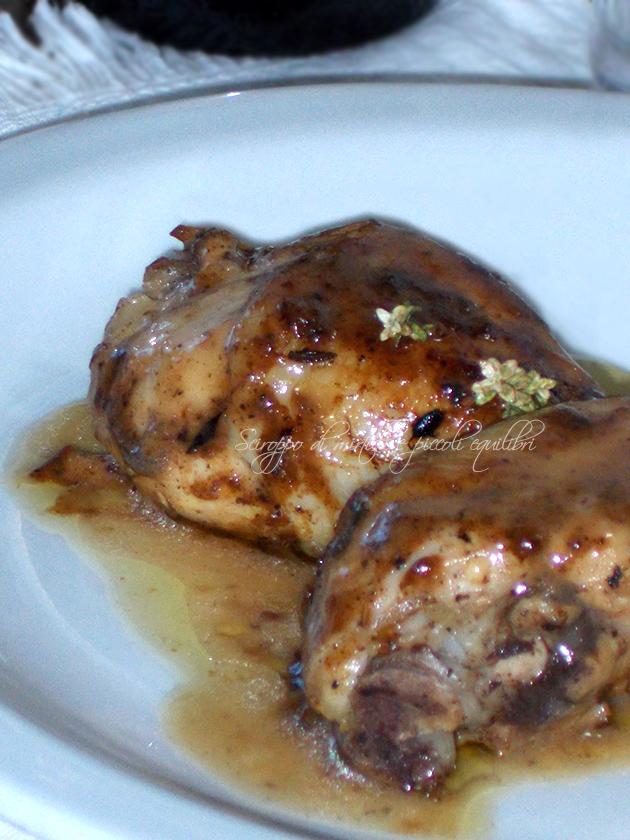 Coscette di pollo alla senape di Digione e limone