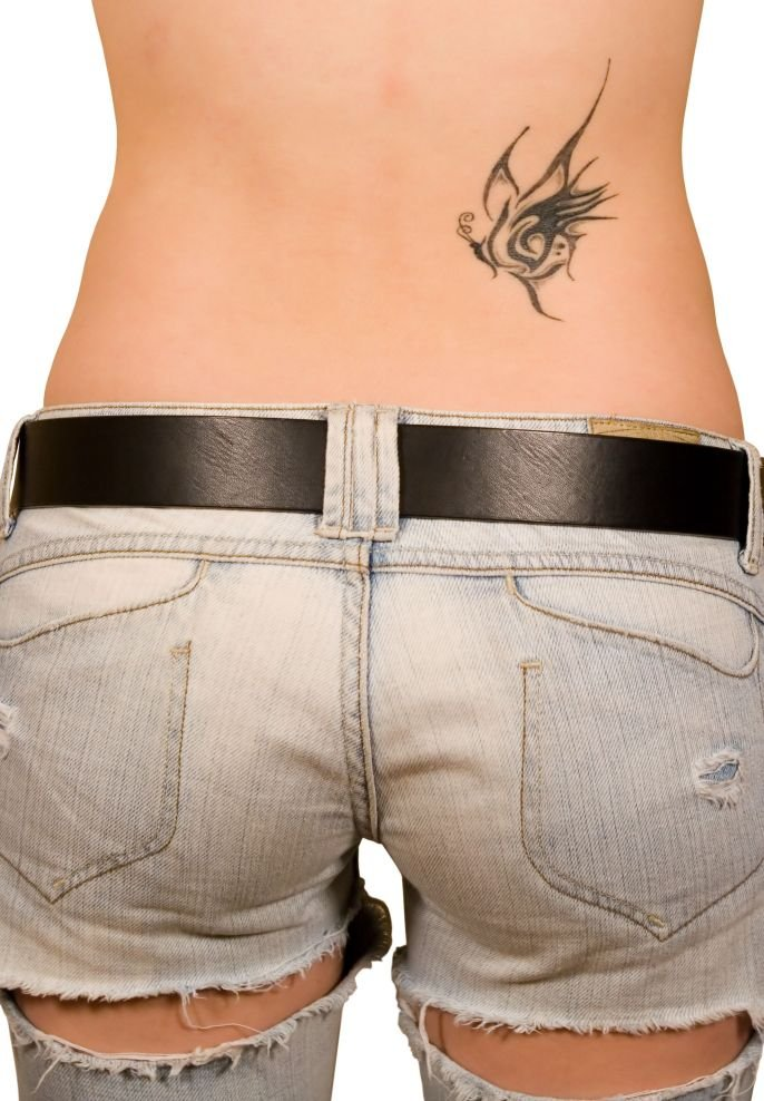 tattoos tattoo lower designs female pretty womens cute angel simple butterfly upper tat cool star tribal shoulder meaning unknown posted